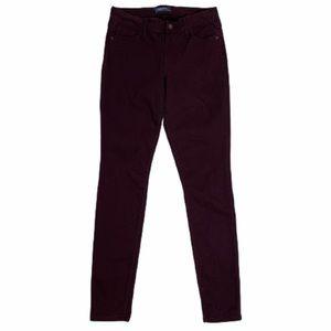 Old Navy Rockstar Pants Burgundy Mid Rise Pants 4